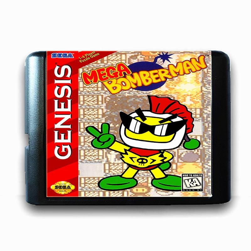 Mega Bomber Man 16 bit Sega MD Game Card for Mega Drive for Genesis