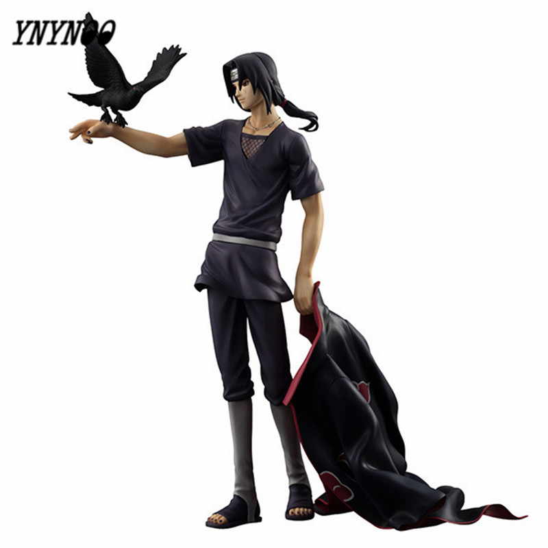 YNYNOO Naruto Shippuden Uchiha Itachi PVC Action Figure Collectible Model Toy Doll 27cm K331 pu short wallet w colorful printing of naruto shippuden uchiha itachi