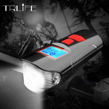 3 in 1 Bike Light 4000mAh Horn Bicycle Lamp Odometer Headlight MTB Computer USB Rechargeable Waterproof Cycling