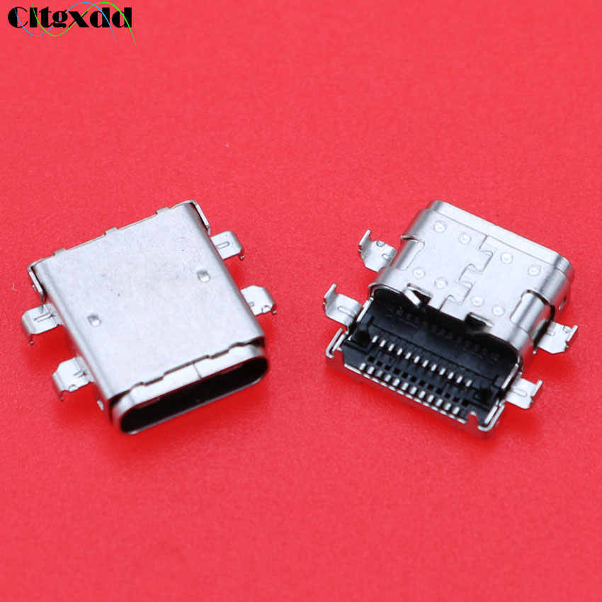 1 Pcs USB Mikro Tipe-C SMT DIP Perempuan Konektor USB3.1 untuk Ponsel Notebook Pengisian Port Mini USB jack Konektor Soket