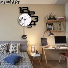 Large Wall Clock Digital Hanging Wall Watch Big Decorative Modern Design Wall Clocks Home Decor Digital Clock Wall For Bedroom