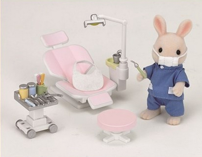 Sylvanian Family Country Detist set toy Doctor Toys, Pretend Play Toys Child figure Toys gift new 2016 pretend play toys medical kits doctor s bag playsets learning education toy set doctorm200o