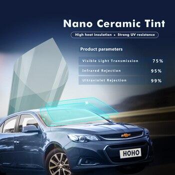 1.52x12m/5x39ft 75%VLT Sunice Nano Ceramic Solar tint Anti-UV Auto Car home Window Glass Film car front window foils