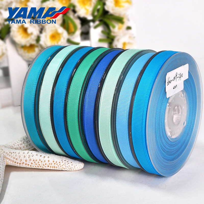 Image 4 - YAMA 25 28 32 38 mm 100 yards/lot Blue Grosgrain Ribbon Perfect for Wedding Decoration Crafts and Gifts Packing Woven Ribbons-in Ribbons from Home & Garden