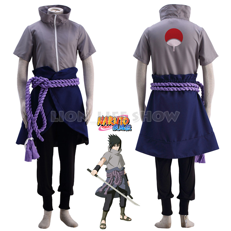 Anime Naruto Sasuke Uchiha Costume Cosplay Ninja Sasuke Parrucca Regalo Ideale Per Tutte Le Occasioni