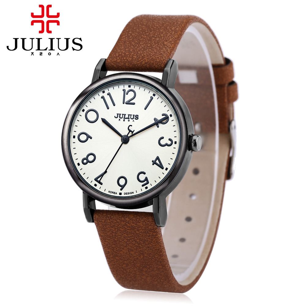 Julius quartz brand lady watches women luxury antique leather dress wrist women watch relogio for Watches brands for lady
