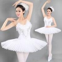 Adult Professional Swan Lake Tutu Ballet Costume Hard Organdy Platter Skirt Dance Dress 6 Layers