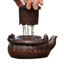 Große Kapazität Lila Ton Teekanne Filter Handgemachte Qualität Waren Teekanne Tee-Set 700 ml W $