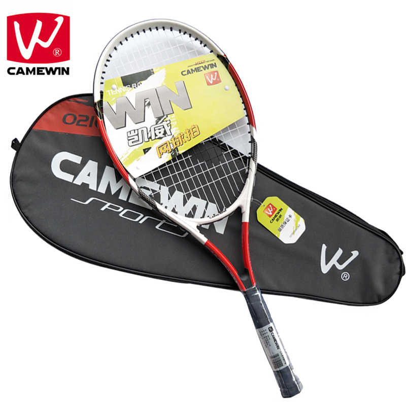 CAMEWIN Brand 1 Piece High-quality Carbon Fiber Tennis for tenis masculino Men and Women Racket with Tennis Bag raquete de tenis