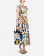 Fashion Runway Summer Dress 2019 New Womens Bow Spaghetti Strap Backless Blue and White Porcelain Floral Print Long