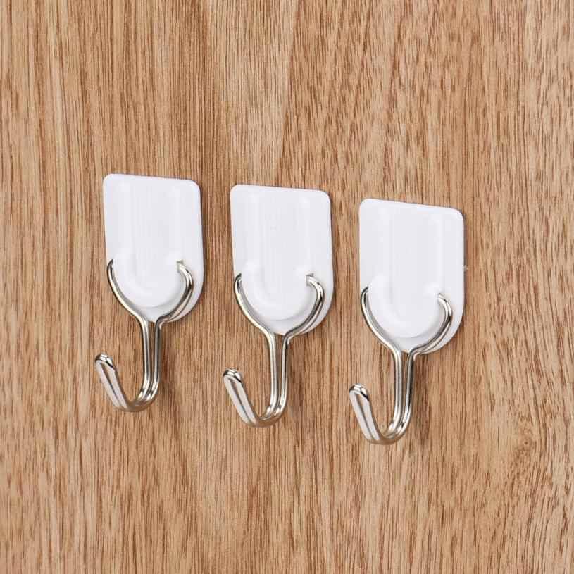 6 sztuk hak ścienny mocny przylepny hak drzwi ścienne przyklejony wieszak uchwyt kuchnia łazienka akcesoria 2019 Hot # ZH0.8