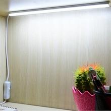 цена на 5V USB LED Bar Strip Light 2835 kitchen Table Desk Night Lamp for Study Reading Cabinet Closet Dormitory Sink Lights + Switch