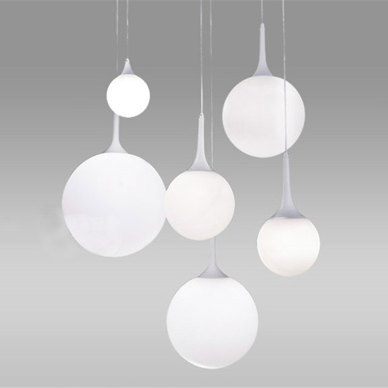 led white glass ball pendant lamps meteor rain light meteoric shower stair bar droplight pendant. Black Bedroom Furniture Sets. Home Design Ideas