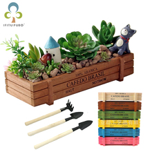Горшок для садового растения декоративный винтажный суккулентный деревянный ящик ящики прямоугольник стол цветочный горшок садовое устройство GYH