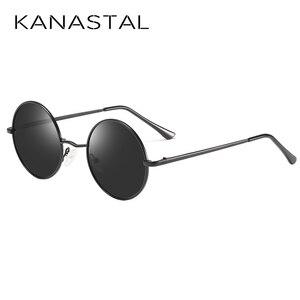 Image 2 - KANASTAL Metal Steampunk Güneş Gözlüğü Polarize Oval Ayna Steampunk Yuvarlak Güneş Gözlüğü Erkek Kadın Polarize sürüş gözlükleri UV400