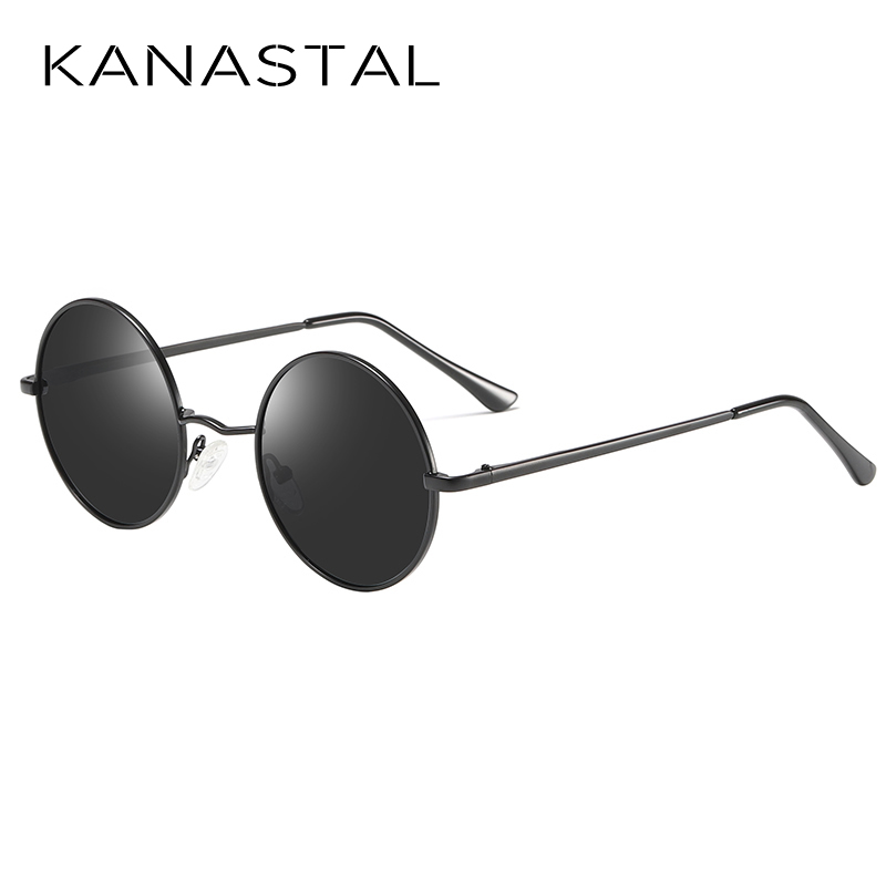 KANASTAL Metal Steampunk Sunglasses Polarized Oval Mirror Steampunk Round Sunglasses Men Women Polarized Driving Glasses UV400 in Men 39 s Sunglasses from Apparel Accessories