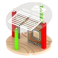 Traditional Baby Wooden Toys Tomas and Friends Train Track Railway Platform slot set