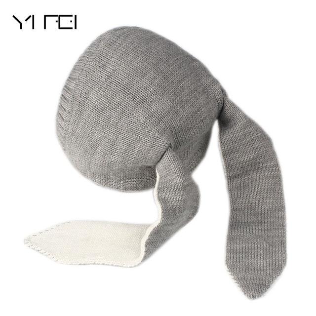 Épaississement Enfants Chapeaux Automne Hiver Oreille de Lapin À Tricoter  Chapeau Bébé Laine Chapeaux 0- f5cbbb4a56f