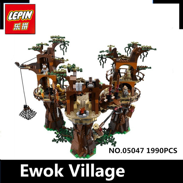 IN STOCK Free shipping 1990pcs Lepin 05047 Star Ewok Village W Building Blocks Juguete para Construir Bricks Toys 10236 Gifts