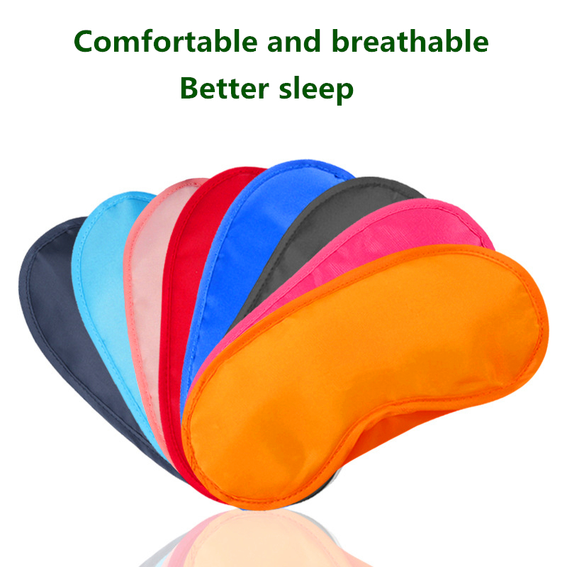 1Pcs New Pure Silk Sleep Rest Eye Mask Padded Shade Cover Travel Relax Aid Blindfolds  Memory Foam Sleeping Eye Patch