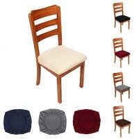 2/4/6 pçs cozinha estiramento jantar cadeira capa elastano jacquard assento protetor cobre elástico caso de assento sala slipcover