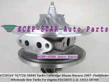 Turbo CHRA Cartridge Core GT2056V 767720 767720-5004S 767720-0004 14411-EB70B For NISSAN NAVARA Pathfinder YD25 YD25DDTi 2.5L