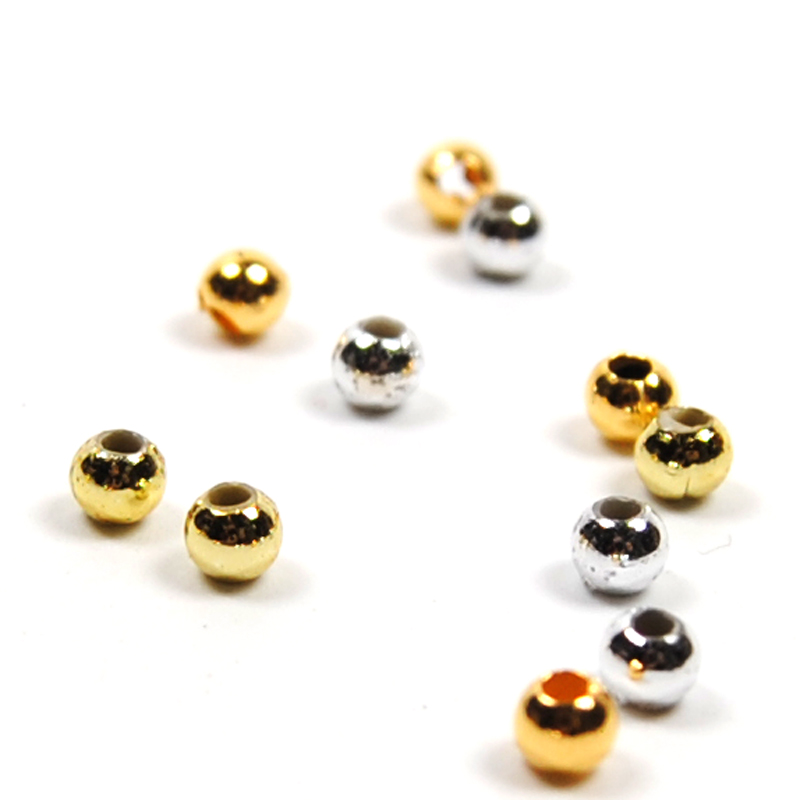 300pcs 3mm Hollow Plastic Beads for Fly Tying Nymph Scud Belly Eyes / Spinner Lure Beads Gold Silver Color [1 pcs] 2 meter fly tying glitter rib chironomid nymph braid line olive black pearl red gold silver brown color