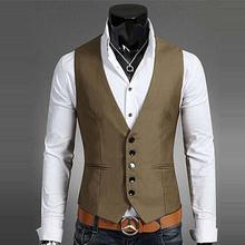 Tan Mens Waistcoats Slim Fit Wedding Prom Dinner Suit Vests Men Gilet Best Man Vest chaleco hombre homem colete Custom Made