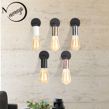 Lámpara de pared de hierro LED E27 Simple y moderna, luz de pared vintage con 5 colores para dormitorio, oficina, pasillo, sala de estar, bar