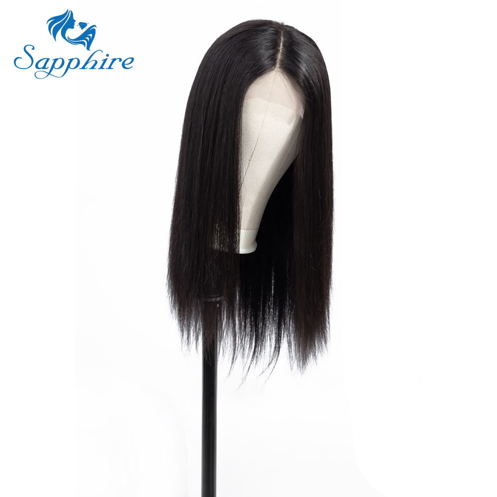 Brazilian Wig 4 4 Straight Lace Closure Wig Lace Front Human Hair Wigs Pre Plucked With