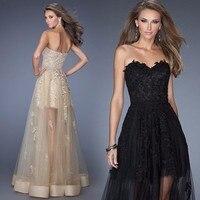 Длинные Черный Тюль продвижение вечернее платье с кружевными аппликациями длинная серая юбка Банкетная пикантная платья оптом изготовлен