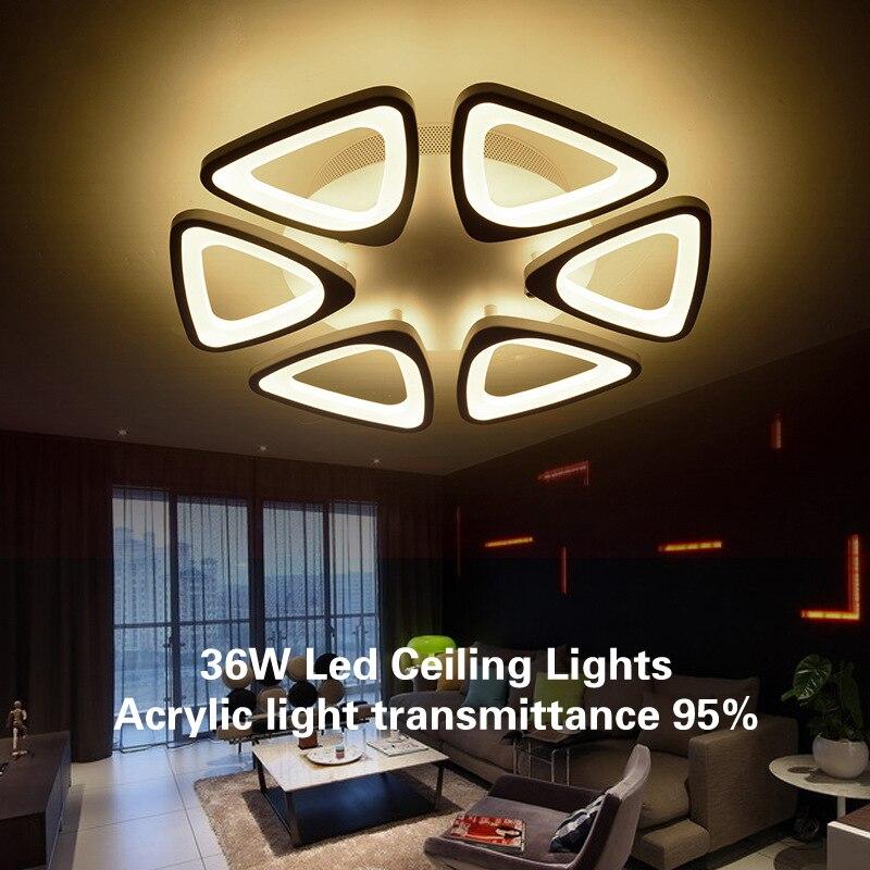 36 W créatif Led plafonniers Ultra acrylique transmittance de lumière 95% 6 Led têtes plafond éclairage 15 mètres carrés pièce