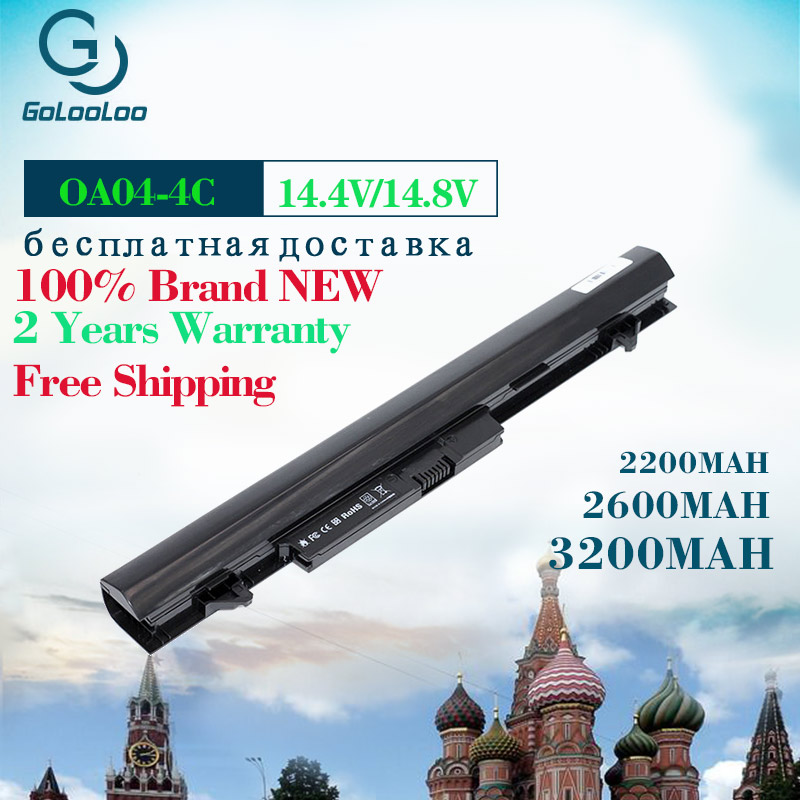 Golooloo 4 células Bateria Do Portátil Para HP COMPAQ OA04 TPN-F112 TPN-Q129 TPN-Q131 TPN-Q130 TPN-Q132 Para Pavilion 14 15 240 250