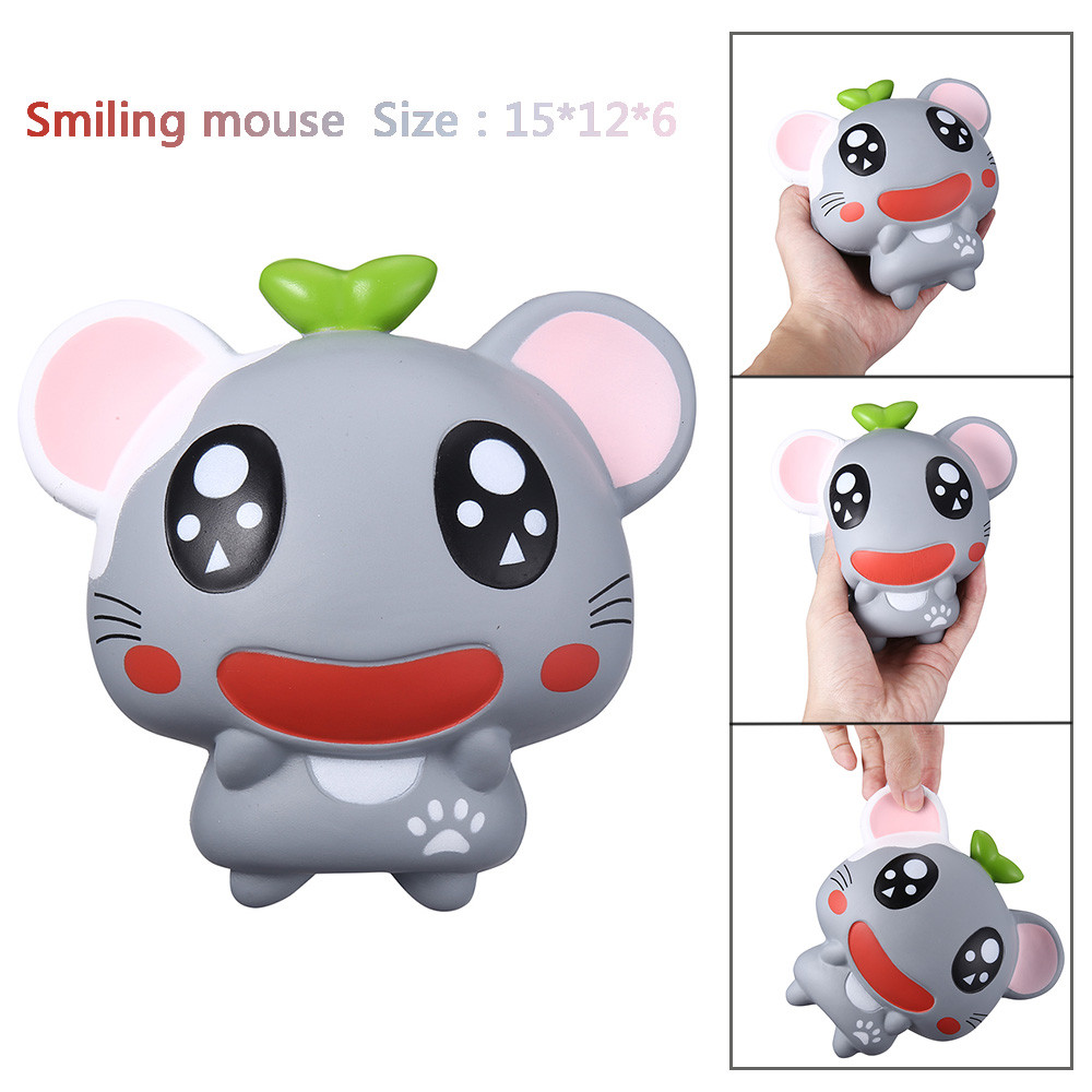 Cute Smiling Mouse Hamster Slow Rising Collection Squeeze Stress Reliever Toy Stress Relief Toy Funny Kids Gift 20