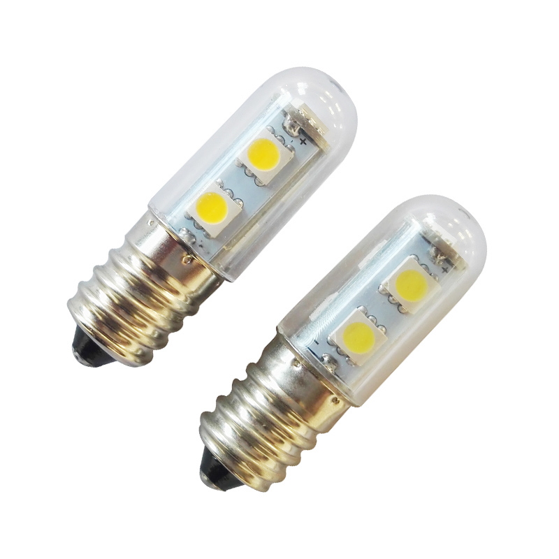 2018 1x Mini E14 LED Lamps 5050 SMD 1W Crystal Chandelier 220V Spotlight Corn Bulbs Pendant Fridge Refrigerator Light led gold deco chandelier bulbs candle light e14 85 265v 5w lamps