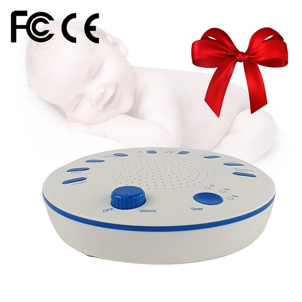 New Babys Timing Music Sleep Aid Device White Noise Machine Sound Machine Music Player with Night Light Soothing Sounds Timer ...