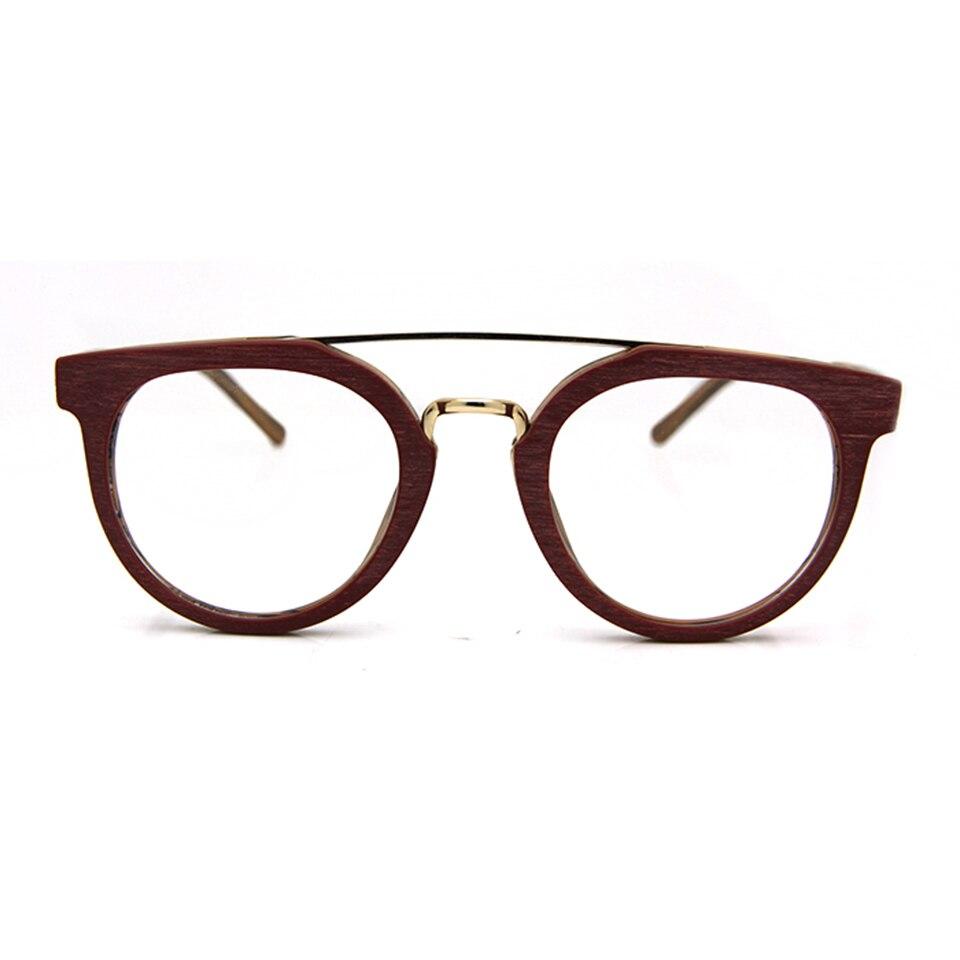 Syze syze ESNBIE Dizajn Kornizë Gratë Fake Lunettes Wood de Vue - Aksesorë veshjesh - Foto 4