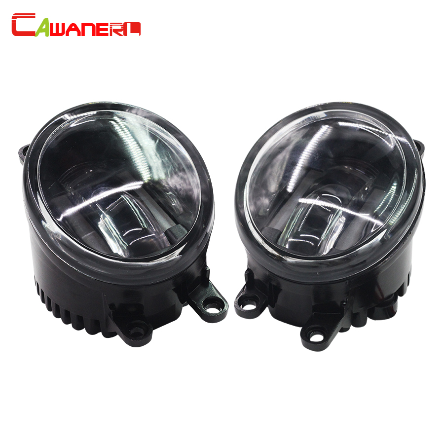 Cawanerl 2 X Car LED Fog Light White 12V Daytime Running Lamp DRL For Lexus LX570 LX570 RX350 RX450h HS250h GS350 GS450h IS-F qvvcev 2pcs new car led fog lamps 60w 9005 hb3 auto foglight drl headlight daytime running light lamp bulb pure white dc12v
