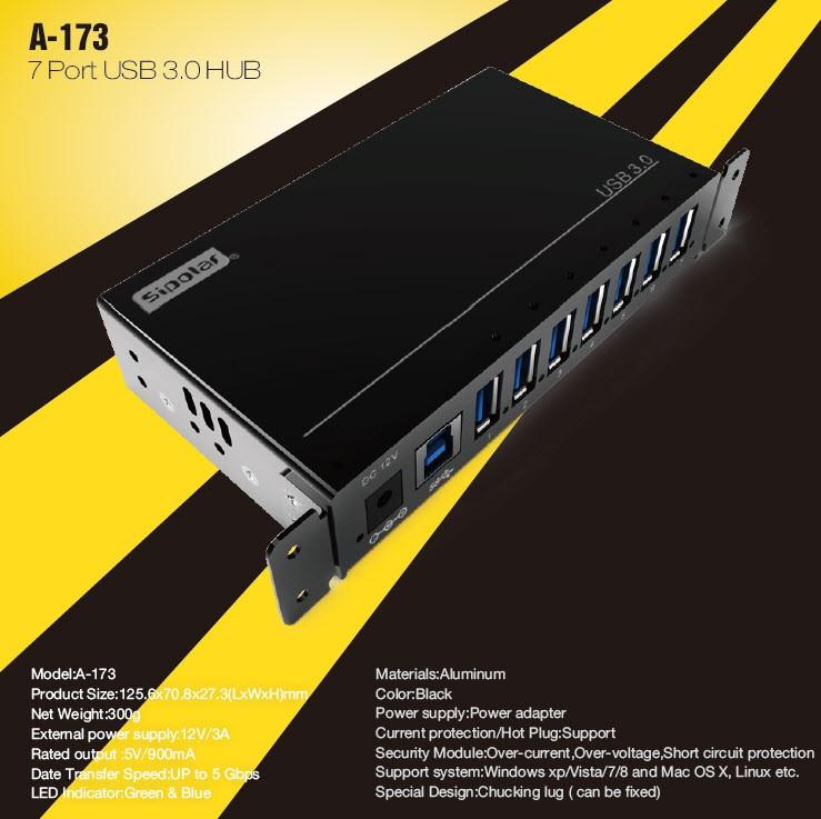 A-173 7 ports USB 3.0 HUB