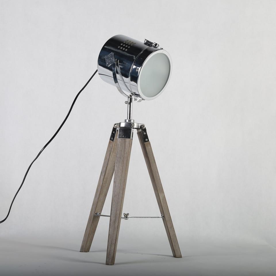 Retro Royal Wood tripod Table Search Light Lantern,Bronze led desk light flexible led desk light bar 6