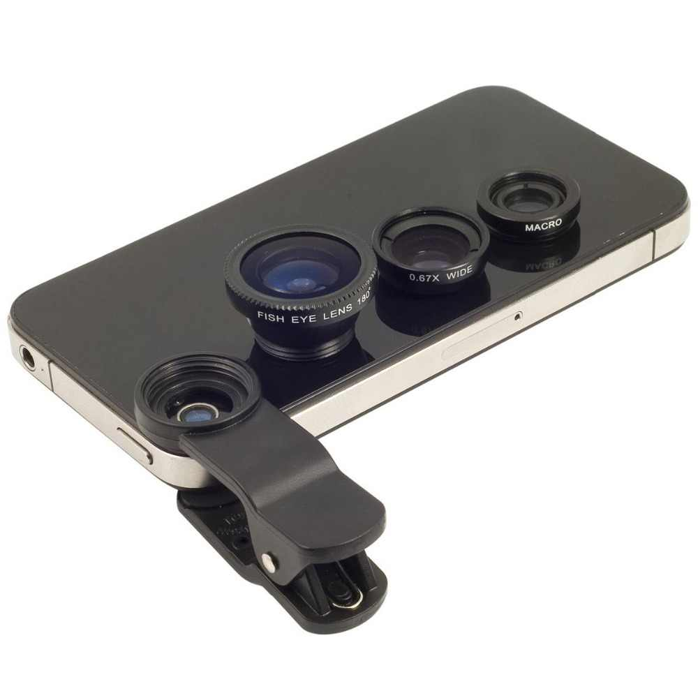 Apexel 3 In 1 Universal Clip camera Mobile Phone Lens Fish Eye Macro Wide Angle Lens for iphone x 7 8 plus Samsung s8 s9 Huawei