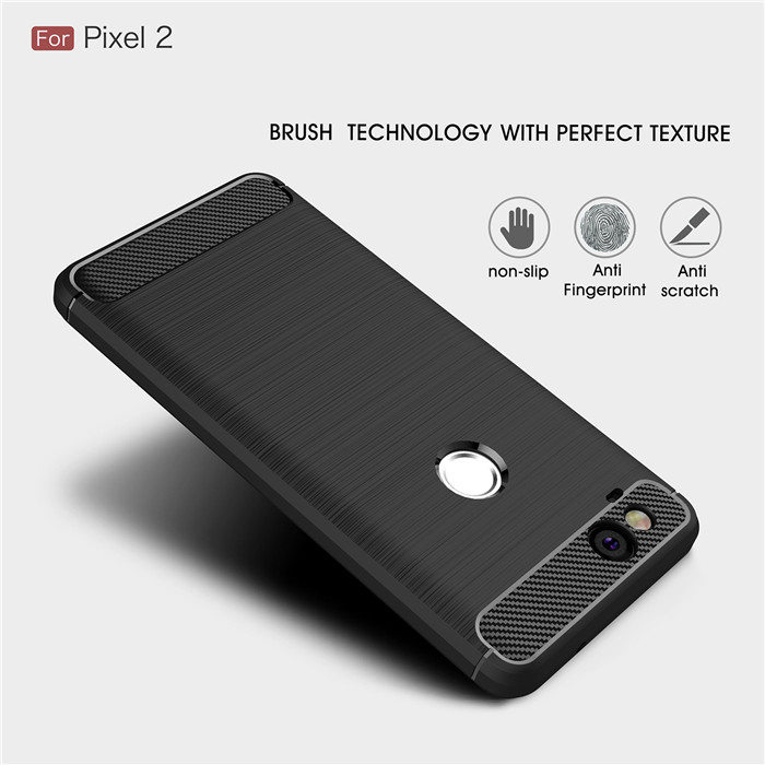 For Google Pixel 2 2XL 3 XL Case Luxury Slim Armor Soft Silicone Phone Back Cover For Pixel 3XL Case Brushed Carbon Fiber Coque