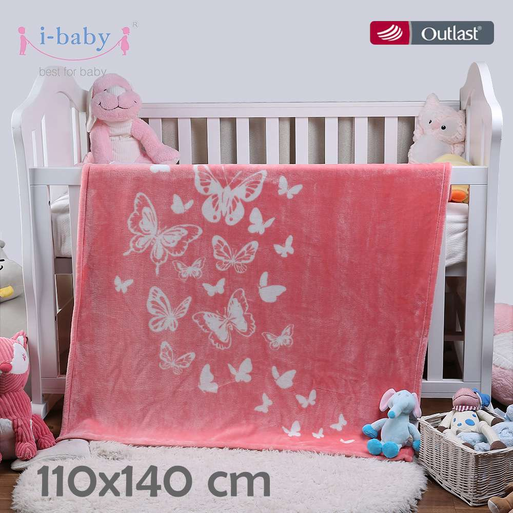 I-baby Luxury Ultra Soft Kids Blanket Super Warm Velvet Baby Blanket Newborn Swaddling Infant Wrap Toddler Blanket 110*140cm