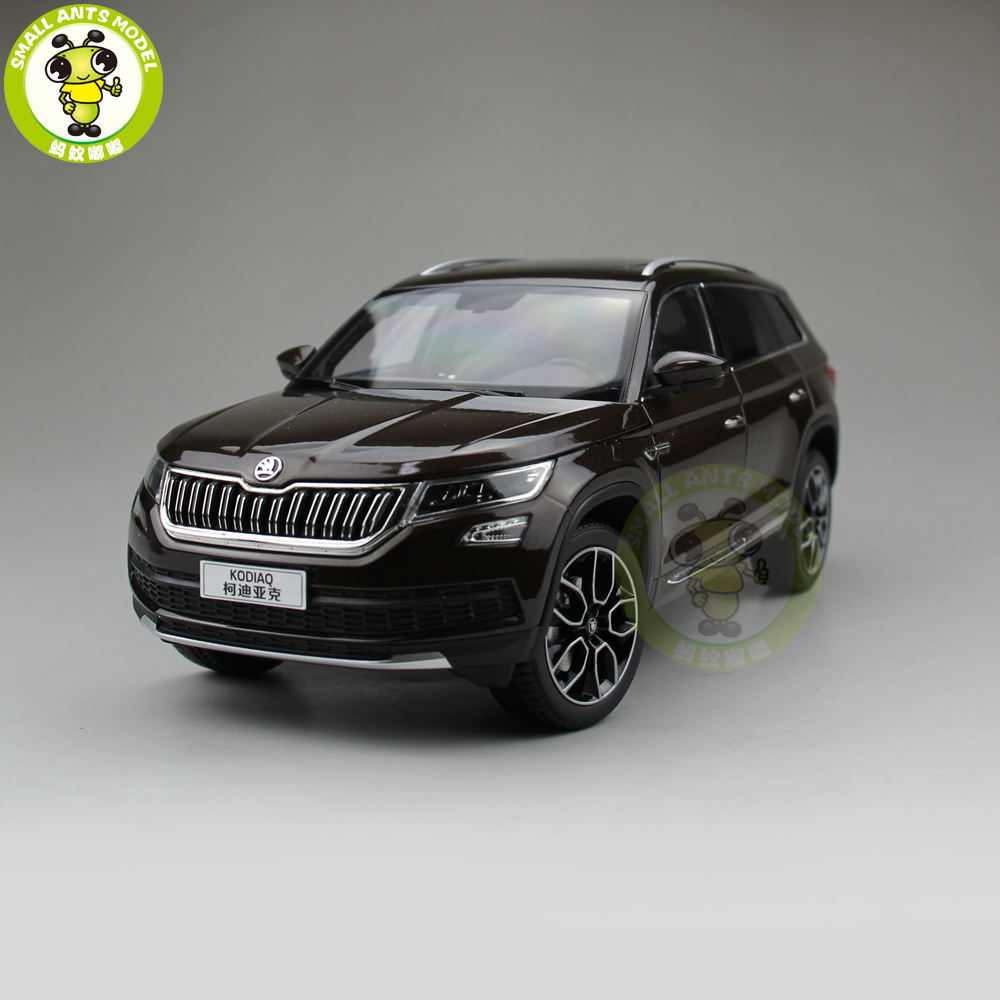 1/18 VW Volkswagen Skoda KODIAQ SUV Diecast Metal SUV CAR MODEL gift hobby collection Brown maisto jeep wrangler rubicon fire engine 1 18 scale alloy model metal diecast car toys high quality collection kids toys gift