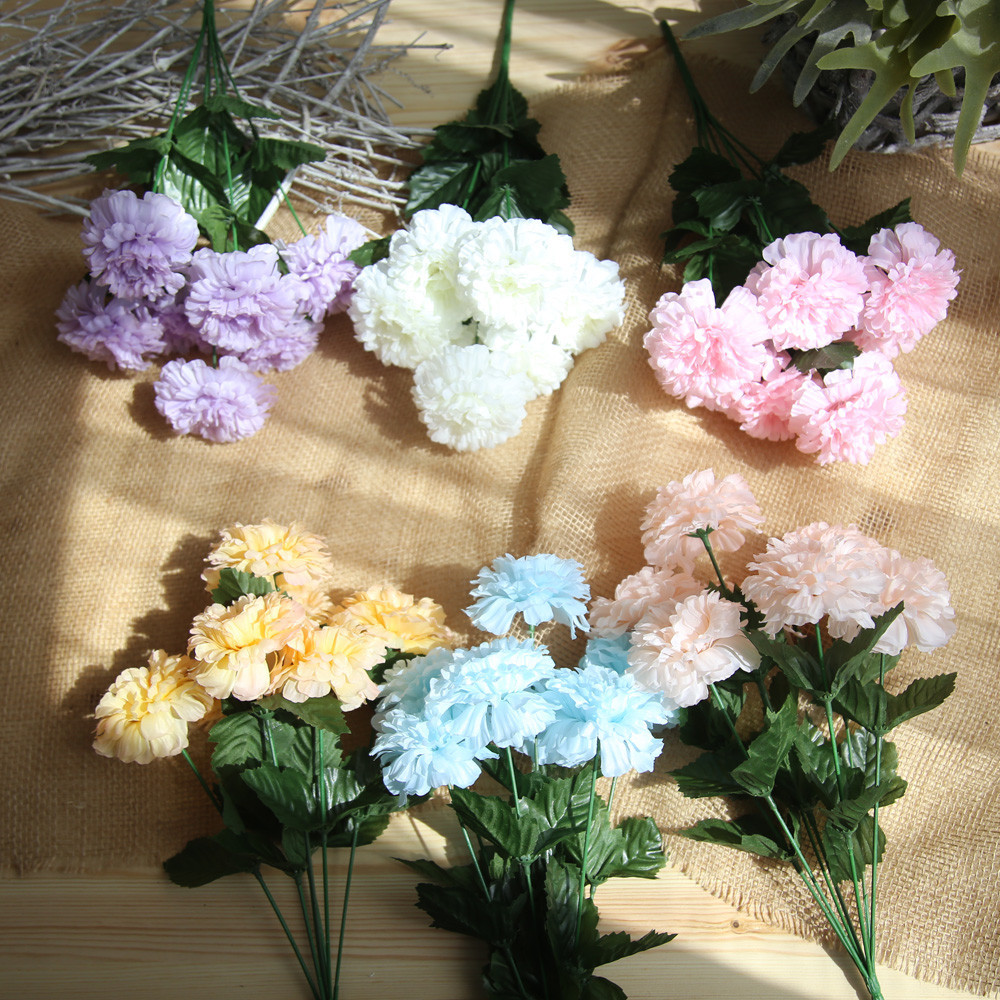 Aliexpress Buy Artificial Silk Fake Flowers Daisy Lotus Wedding Bouquet Party Home Decor 2017 European Style New Ornament Dropship From