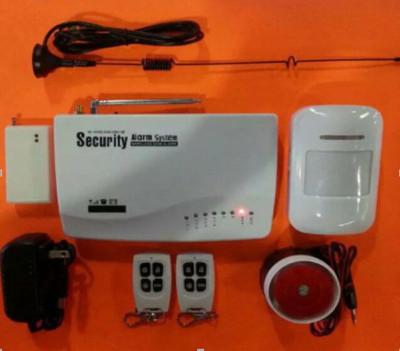 GSM frequence 850/900/1800/1900Mhz Burglar  Alarm System 850 900 1800 1900mhz gsm global tracking locator black