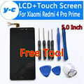 Para xiaomi redmi 4 pro primera pantalla lcd + touch de alta calidad 100% nuevo panel digitalizador de pantalla de cristal para xiaomi redmi 4 pro primer
