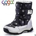 Botas de niño femenino 2017 de invierno impermeables botas de nieve niño hasta la rodilla zapatos botas niño masculino