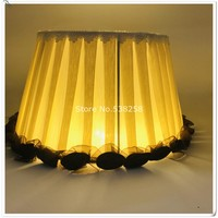 E27 modern Lamp shade for table lamp with flower Pattern lace Textile Fabrics Decorative gold/silver lamp shade