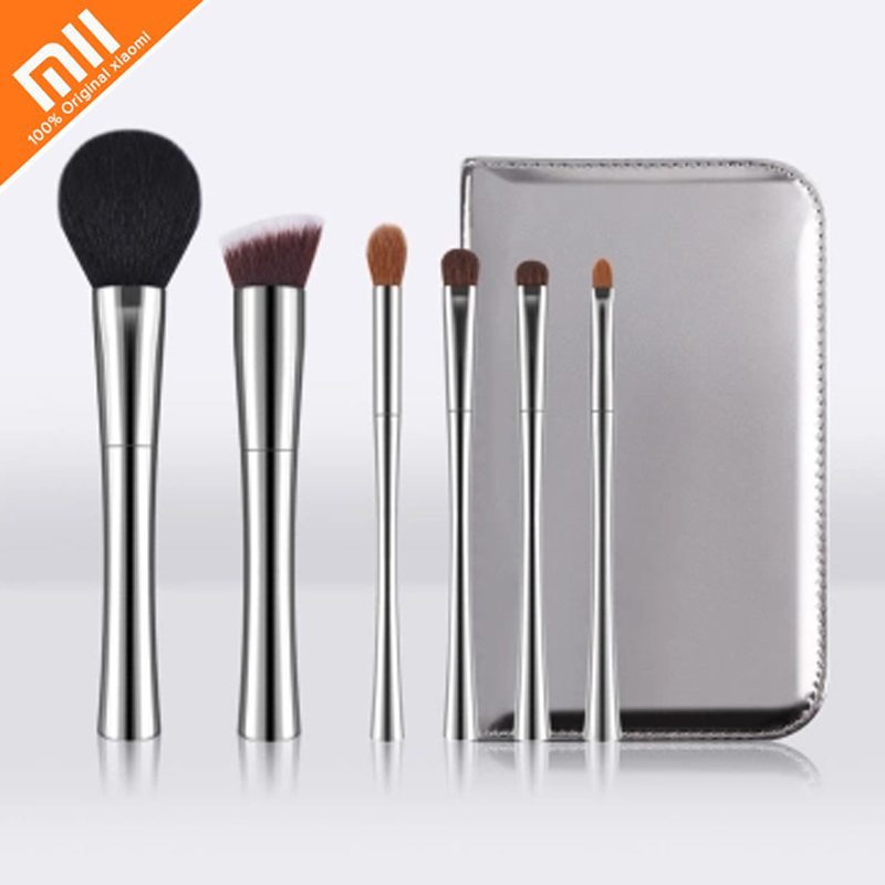 Original xiaomi mijia DUcare exquisite high end makeup brush 6 sets of man made fiber PU